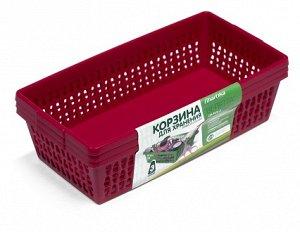 Корзина Корзина ВЕЛЕТТА] набор 3шт. Многофункциональные пластиковые корзины для хранения вещей, пищевых продуктов, игрушек, пакетов и многого другого могут стать отличным решением для дома, дачи, гара