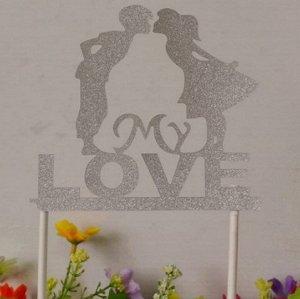 """Надпись """"My love"""" на шпажках"""