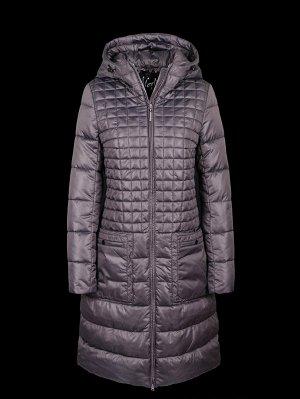 Пальто женское на синтепухе Merlion Selena (лаванда) б/м (тонкое)
