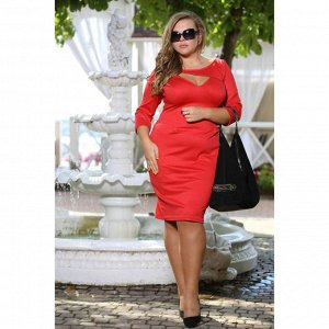 Стильненькое красное платье р. 48