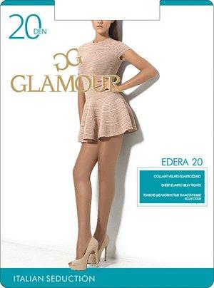 Тонкие шелковистые эластичные колготки GLAMOUR Edera 20 с шортиками