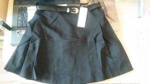 Чёрная школьная юбочка