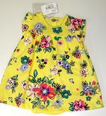 Платье для девочки желтое в цветок