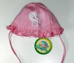 Шапочка для девочки розовая Птичка Твити