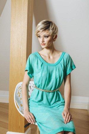Платье На русский 46-48 Верх - 65% viscose 23% cotton 12% polyester; Подкладка - 100% viscose Без пояса!