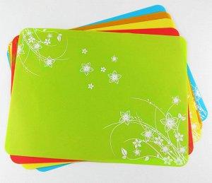 Салфетка силиконовая цвет зеленый размер 40х30