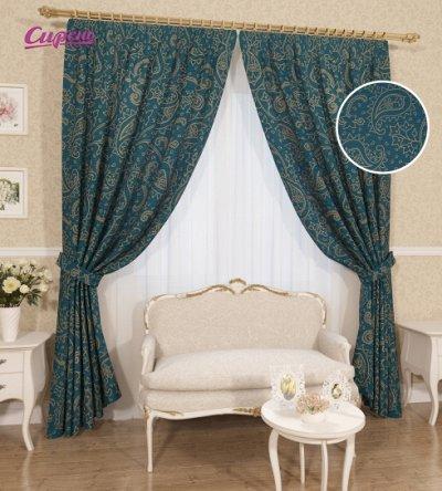 Сирень. Фотошторы и текстиль для дома!  Шторы от 1580 руб!   — Сирень.Классические шторы с подхватами.  — Шторы