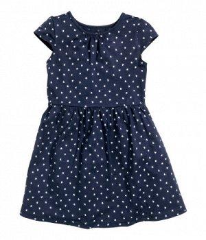 Платье джерсиТемно-синий / сердце
