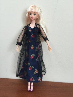 Комплект одежды (халат + сорочка + босоножки) черный