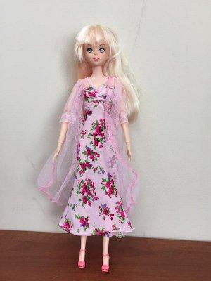 Комплект одежды (халат + сорочка + босоножки) розовый