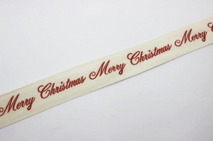 "Лента(хлопок)-""Merry Christmas"""
