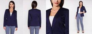 Тёмно синий пиджак размер 40-42