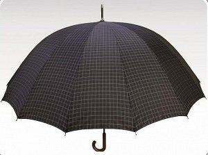 Зонт трость ORION клетка серая