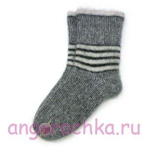 Мужские теплые шерстяные носки с полосками - 502.20