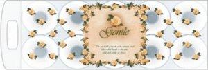 """""""Gentle"""" Трехслойная туалетная бумага  с ароматом «Европы», 10рул."""