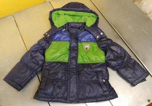 Куртка на синтепоне, трехцветная  / FW04 / сине-зеленый / М