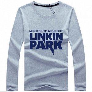 """Футболка с длинными рукавами серая, """"Линкин Парк"""""""