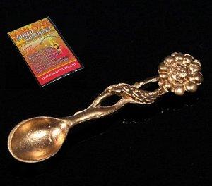 Ложка- загребушка Цветок цвет золото, в упак