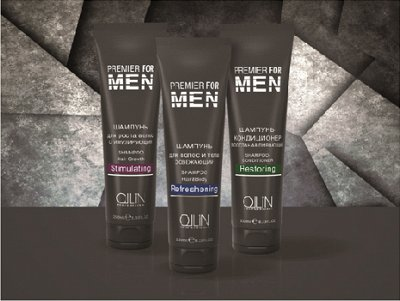 #OLLIN PROFESSIONAL -  Акция -30% + Новая линейка   — PREMIER FOR MEN - МУЖСКАЯ ЛИНИЯ ДЛЯ УХОДА ЗА ВОЛОСАМИ И КОЖЕ — Мужская линия