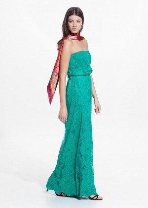 Длинное платье из тюля MANGO