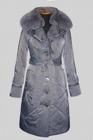 Зимнее пальто, темно-серое,  48-50 р.