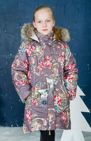 Пальто для девочки беж
