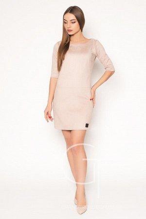 Уютное замшевое платье