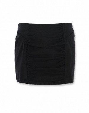 Юбка черная с вставкой впреди
