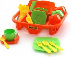 """Набор детской посуды """"Алиса"""" с сушилкой на 4 персоны"""