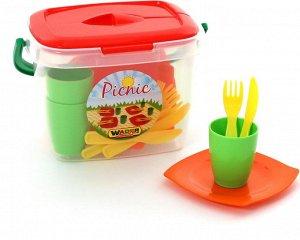 """Набор детской посуды """"Алиса"""" для пикника №1"""