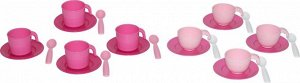 Набор детской посуды на 4 персоны (в сеточке) (микс №2)
