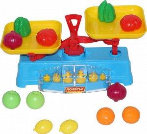 """Игровой набор """"Весы"""" + набор продуктов (12 элементов) (в сеточке)"""
