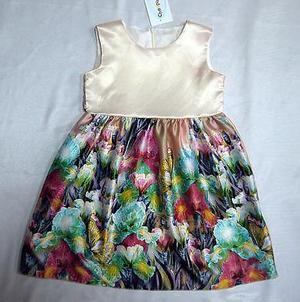 Платье Платье нарядное, атлас/гипюр+вуаль, на хлопковом подкладе.
