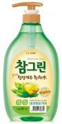 """LION Средство для мытья посуды, овощей и фруктов """"CHAMGREEN"""" Зеленый чай, флакон-дозатор, 965 мл"""