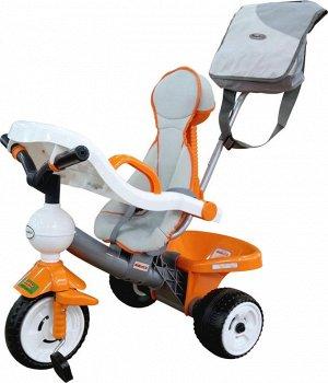 """Велосипед 3-х колёсный """"Дидактик"""" с игровой панелью, ручкой, ремешком, чехлом и сумкой"""