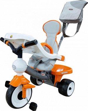 """Велосипед 3-х колёсный """"Дидактик №2"""" с игровой панелью, ручкой, ремешком, чехлом и сумкой"""
