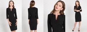 Платье-футляр черное
