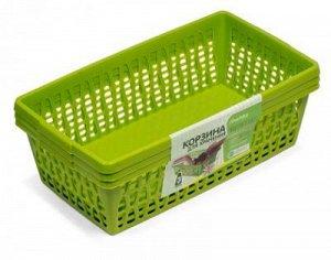 Корзина Корзина [ВЕЛЕТТА] набор 3шт. Многофункциональные пластиковые корзины для хранения вещей, пищевых продуктов, игрушек, пакетов и многого другого могут стать отличным решением для дома, дачи, гар