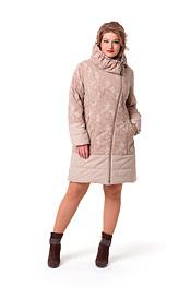 Красивое бежевое пальто
