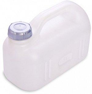 Канистра Канистра 5,0л [ПРОСПЕРО]. Пластиковые канистры подходят как для хранения, так и для транспортировки практически любых жидких и сыпучих продуктов. Плотно закручивающаяся крышка надежно защитит