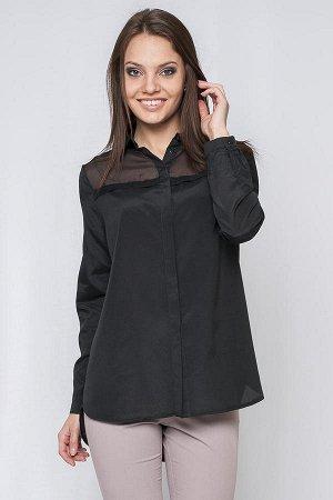 Стильная рубашка чёрного цвета