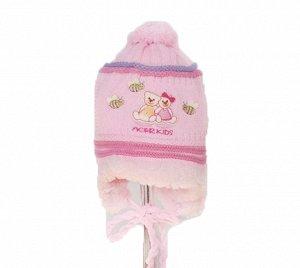 шапка зимняя на девочку 2-4 года