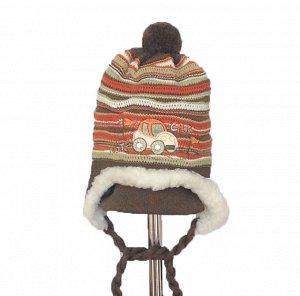 шапка зимняя на мальчика 1-2 года