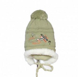 шапка зимняя на мальчика 2-3 года
