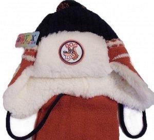 шапка зимняя на мальчика 2-4 года