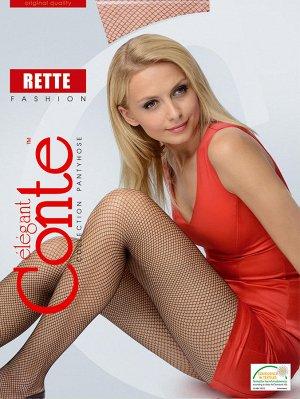 Rette Medium колготки (Conte)/10/ в сеточку, однородные по всей длине, с ластовицей