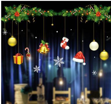 Гирлянда-занавес от 499 руб🎅 Праздник к нам приходит — Наклейки на окна — Все для Нового года