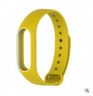 Сменный ремешок для фитнес браслета Xiaomi Mi Band 2 желто- белый
