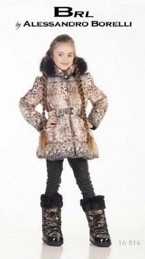 зимнее пальто  BORELLI  на 7-8 лет