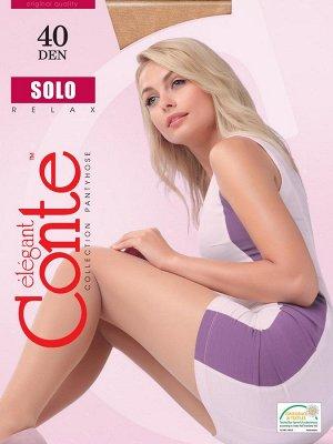 Solo 40 колготки (Conte) полуматовые, усиленной верхней частью